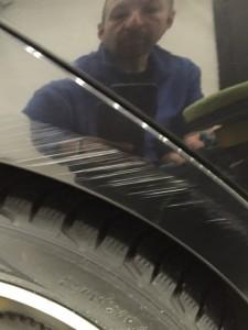 Ремонт царапин автомобиля